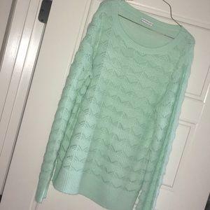 Sea-foam Green Hannah Sweater